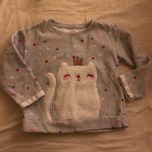 Other - Cute fuzzy cat sweatshirt